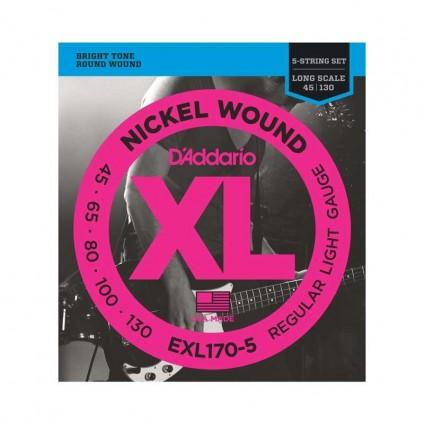قیمت خرید فروش سیم گیتار باس 5 سیم Daddario EXL170-5