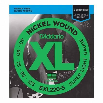 قیمت خرید فروش سیم گیتار باس 5 سیم Daddario EXL220-5