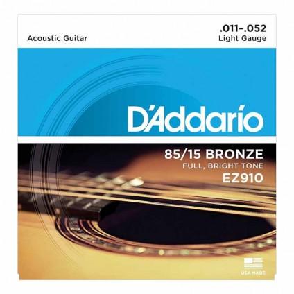 قیمت خرید فروش سیم گیتار آکوستیک 11-52 Daddario EZ910 Bronze