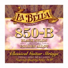 سیم گیتار کلاسیک Labella 850B Elite Black Nylon Golden Alloy