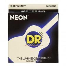 ِسیم گیتار آکوستیک 50-11 DR Neon HI-DEF White