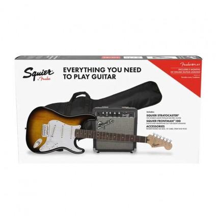 قیمت خرید فروش گیتار الکتریک Squier Strat Pack LRL Brown Sunburst