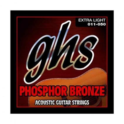 قیمت خرید فروش سیم گیتار آکوستیک 11-50 ghs Phosphor Bronze 11 50