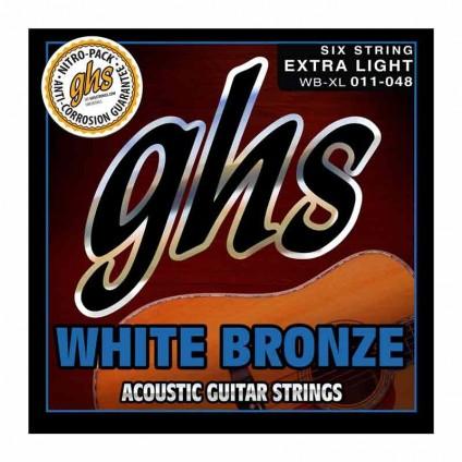 قیمت خرید فروش سیم گیتار آکوستیک 11-48 ghs White Bronze 11 48