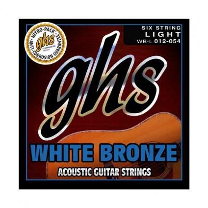 قیمت خرید فروش سیم گیتار آکوستیک 12-54 ghs White Bronze 12 54